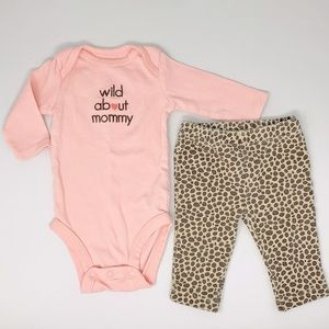 Carter Peach Leopard Wild About Mommy Outfit